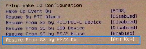 Resume s3 by ps 2 keyboard